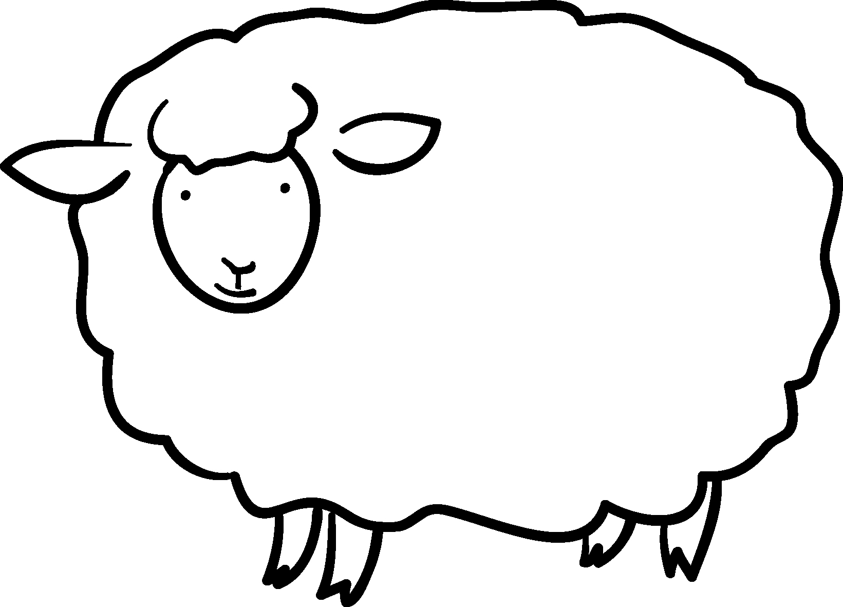 年賀素材館 年賀状イラスト素材 未 ひつじ 羊ダウンロード