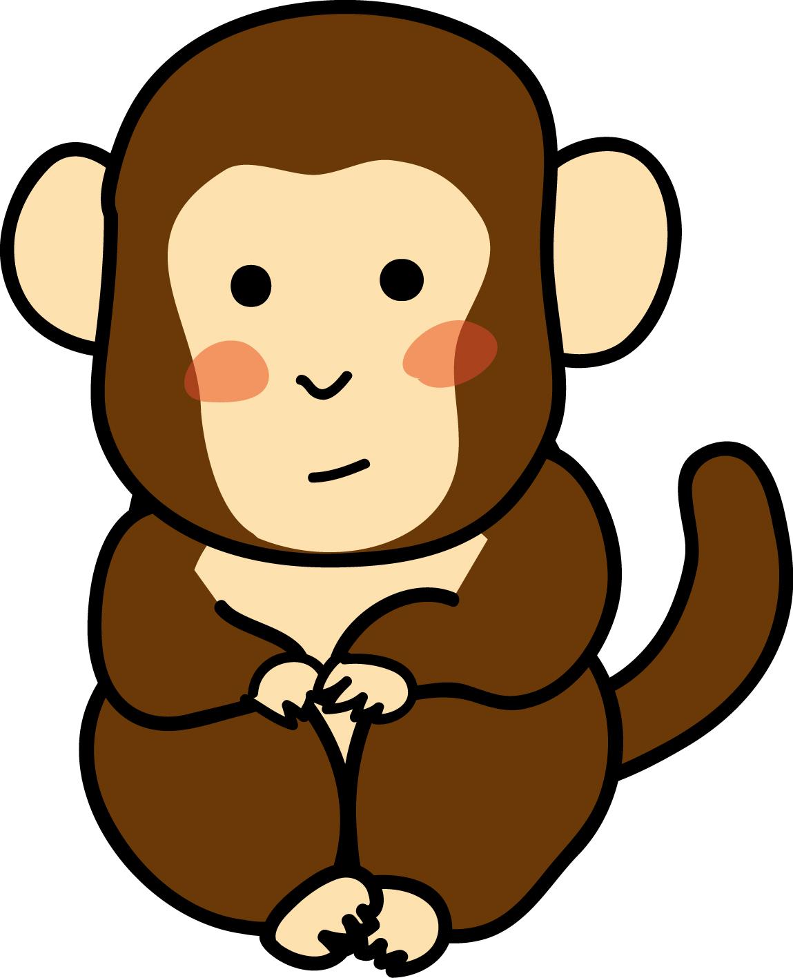 年賀状イラスト素材 申 さる 小猿ダウンロード かわいい無料イラスト 年賀素材館